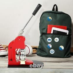 58mm Badge Maker Machine Making Pin Button Press & Cutter + 1000pcs Buttons Kits