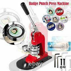58mm Badge Punch Press Machine With 100 Circle Button Parts And Paper Cutter Kit