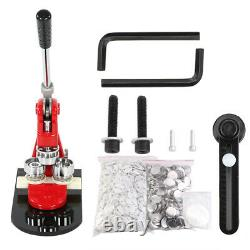58mm Badge Punch Press Maker Machine With 1000 Button + Circle Cutter Kit UK