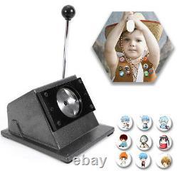 58mm Badgemaker Buttonmaschine Buttonpresse + 500 Buttonrohlinge Cutter bigtop