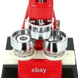 58mm Button Maker Badge Punch Press Machine + 1000 Button Parts Circle Cutter UK