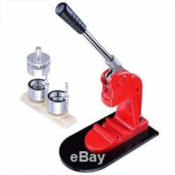 58mm Button Maker Badge Punch Press Machine + 500 Button Parts Cutter Medal DIY