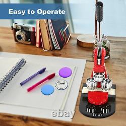 58mm Button Maker Badge Punch Press Machine Circle Cutter Kit + 1000pcs Buttons