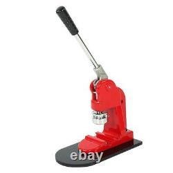 58mm Button Maker Badge Punch Press Machine Cutter 1000pcs Free Buttons Steel UK