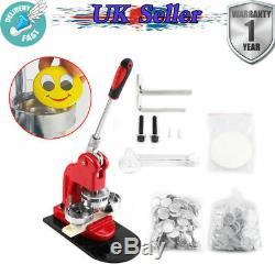 58mm Button Maker Machine Badge Punch Press + 1000 Button Parts + Circle Cutter