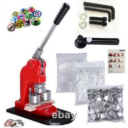 75mm Button Maker Badge Punch Press Machine Free 500 Parts Circle Cutter