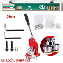 Accurate 25mm Button Maker Machine Badge Punch Press Tool DIY +1000 Parts Cutter