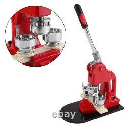Accurate 32mm Button Maker Badge Punch Press DIY Machine+1000 Parts Cutter