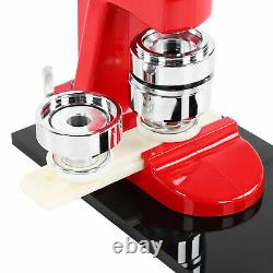 Accurate 44mm Button Maker Badge Punch Press Machine+1000pc Button Parts Cutter