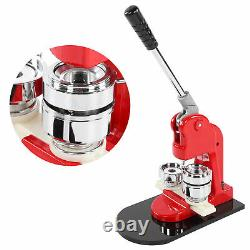 Accurate 44mm Button Maker Badge Punch Press Machine+500 Parts Cutter