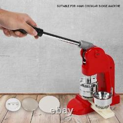 Accurate 44mm Button Maker Machine Badge Punch Press Tool DIY +500 Parts Cutter