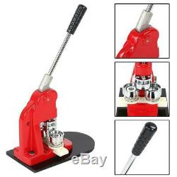 Accurate 58mm Button Maker Badge Punch Press Machine + 1000 Parts Cutter + Dies