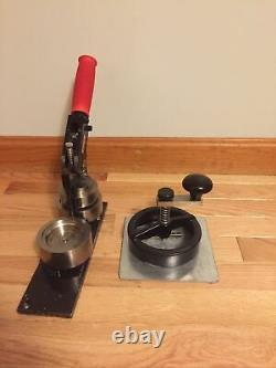 American Button Machines ABM Button Maker Press And Circle Graphic Paper Cutter