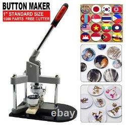 Badge Button Maker Machine Pin Punch Press 25/32/37/44/50/58mm with Circle Cutter