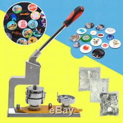 Badge Button Maker Pin Punch Press Machine 37mm 300 Supplies Parts+Circle Cutter