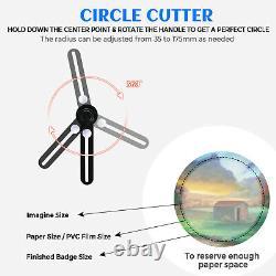 Badge Maker Machine 25mm Punch Press Machine 3000 Button Parts and Circle Cutter