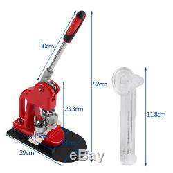 Badge Maker Machine Making Pin Button Badges Press & Cutter 32mm with 1000 Parts