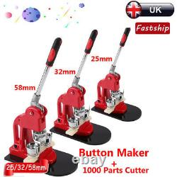 Badge Maker Machine Making Pin Button Badges Punch Press 25/32/58mm Cutter Kits
