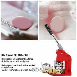 Badge Maker Machine Making Pin Button Badges Punch Press 58mm 1000 Cutter Kits