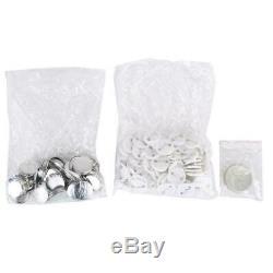Badge Maker Machine Making Pin Button Punch Press 25mm + 1000pc Cutter Kits