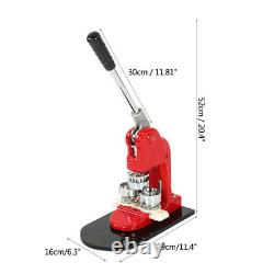 Badge Maker Machine Making Pin Button Punch Press 32mm + 1000pcs Cutter Kits UK