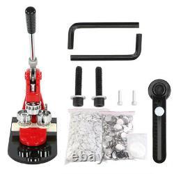 Badge Maker Machine Pin Button Punch Press 58mm + 1000Circle Button Kits+Cutter