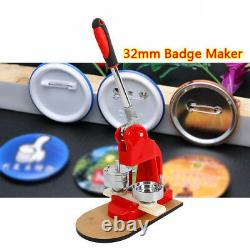 Badge Press Machine Button Maker Machine with 500 Accessories & Circular Cutter