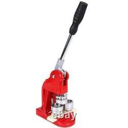Badge Punch Press Maker Machine + 1000 Circle Button Parts +3 Dies Circle Cutter