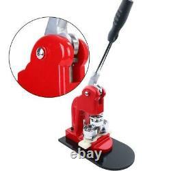 Badge Punch Press Maker Machine + 1000 Circle Button Parts + Circle Cutter Kits