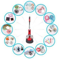 Badge Punch Press Maker Machine With 1000 Circle Button Parts + Circle Cutter