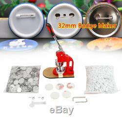 Button Abzeichen Maker Punch Press Mashine Personalized Round Molds with Cutter