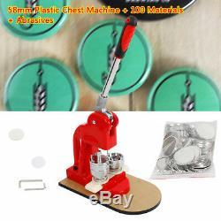 Button Badge Maker Punch Press Machine 100X Materials 58mm Cutter Fun DIY