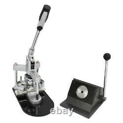 Button Maker Badge Punch Press Machine & Circle Cutter Kit 37mm B0836