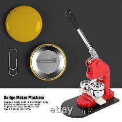 Button Maker Badge Punch Press Machine Circle Cutter Kit 44mm + 1000pcs Buttons