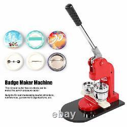 Button Maker Badge Punch Press Machine Circle Cutter Kit 44mm + 500pcs Buttons