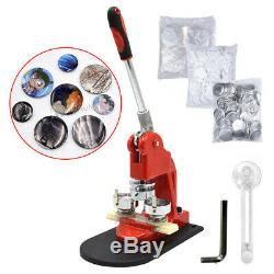 Button Maker Machine Badge Making Pins Punch Press Aluminum Frame+ Circle Cutter