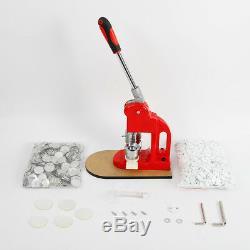 Button Maker Machine Badge Press Machine with 500 Accessories & Circular Cutter