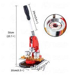 Button Maker Punch Press Machine Circle Cutter Interchangeable Badge Die Mould