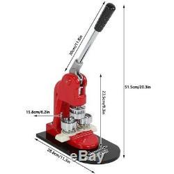 Genaue 25 Mm Button Maker Badge Punch Pressmaschine und 1000 Teile Cutter N D5Z8