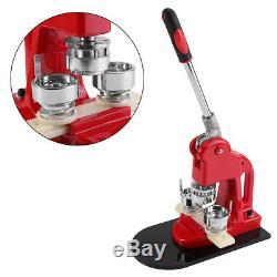 Hand Press 25/32/58mm Button Maker Badge Punch Press Machine+1000 Parts Cutter