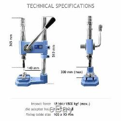 Industrial stroke button making press cover machine + mould, cutter, 200 buttons