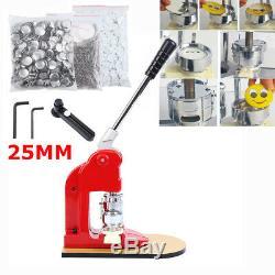 Ridgeyard 25mm Button Maker Badge Punch Press Machine + 500 Parts Cutter Kits