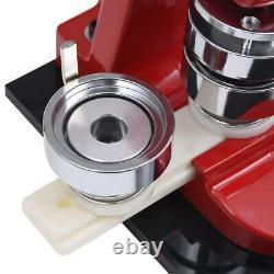 VidaXL Badge Maker Machine with Circle Cutter 58mm Button Punch Press Machine