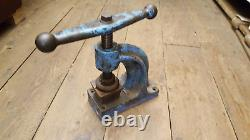 Vintage A Orstin Upholsterers Button Fly Press No 12 w Cutter 37993